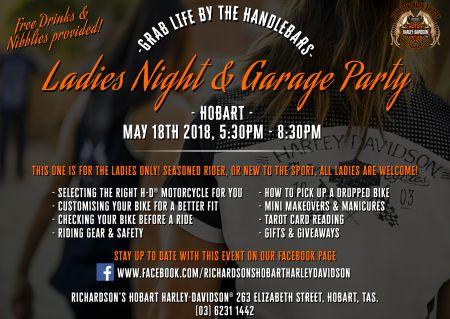 Hobart Ladies Night & Garage Party