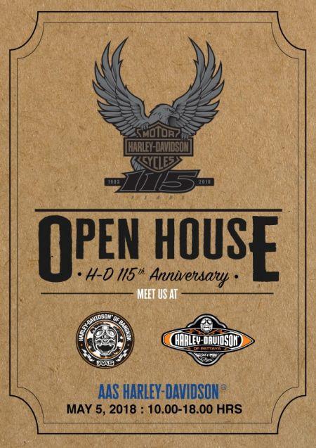 ร่วมเป็นส่วนหนึ่งในงานเฉลิมฉลองครบรอบ 115 ปี Harley-Davidson®