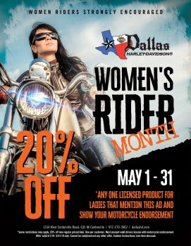 May is Women Riders Month