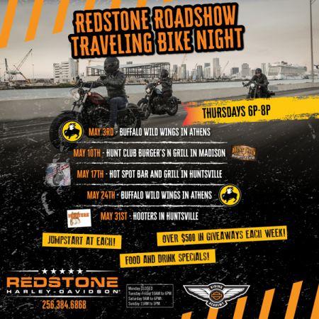 Redstone Roadshow Traveling Bike Night - THE HOT SPOT