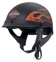 Men's Wheeler Flames M04 Half Helmet, Matte Black