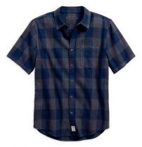 Men's Buffalo Check Plaid Slim Fit Button Up Shirt