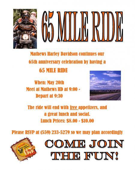 65 Mile Ride