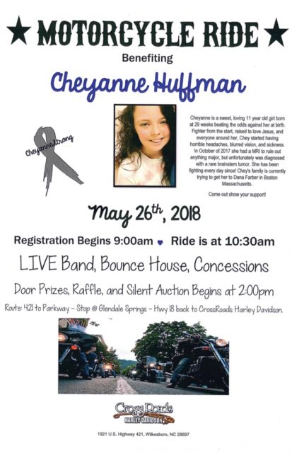 Cheyanne Huffman Motorcycle Benefit Ride