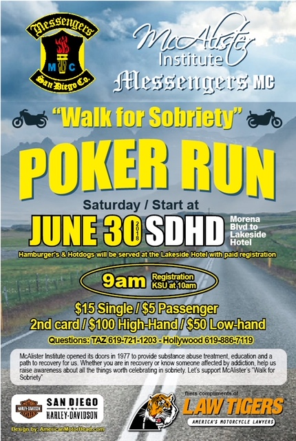 Walk for Sobriety Poker Run