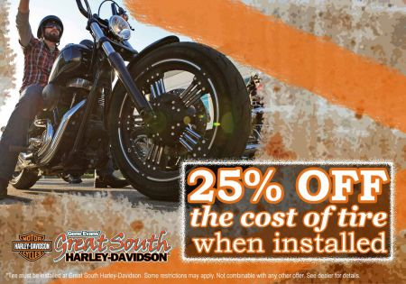 25% OFF Your Tires When You Have Them Installed