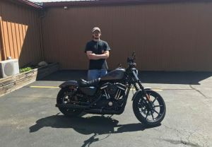 Dave and his first HD, a XL883N!