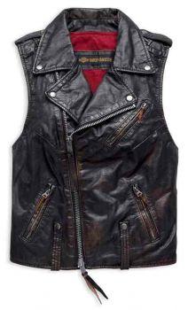 Swingarm Blouson en cuir Harley-Davidson pour femmes