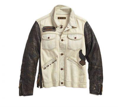 HD dámska riflovo - kožená bunda
