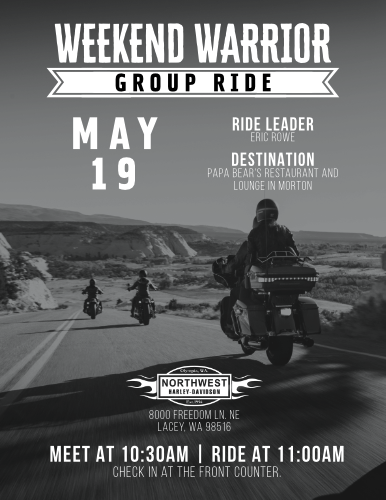 Weekend Warrior Group Ride