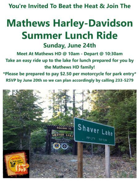 Mathews H-D Summer BBQ Ride