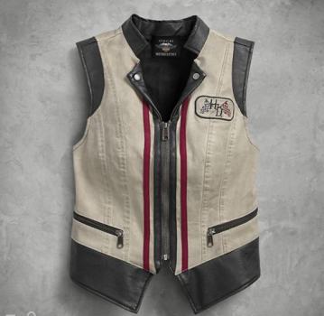 Women's Stone Dirty Wash Denim Vest Harley-Davidson