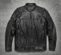 Harley-Davidson® Men's Tifton Distressed Leather Jacket