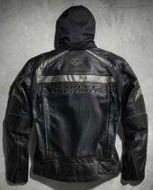Harley-Davidson® Men's Medallion Reflective Leather Jacket