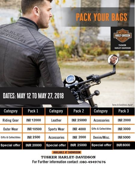 PRE-MONSOON OFFERS ON GENERAL MERCHANDISE AT TUSKER HARLEY-DAVIDSON