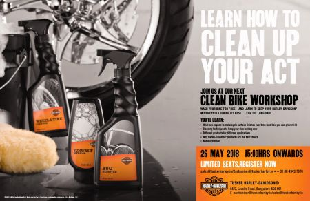SURFACE CARE & READY TO RIDE WORKSHOP AT TUSKER HARLEY-DAVIDSON