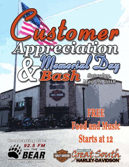 Customer Appreciation & Memorial Day Bash