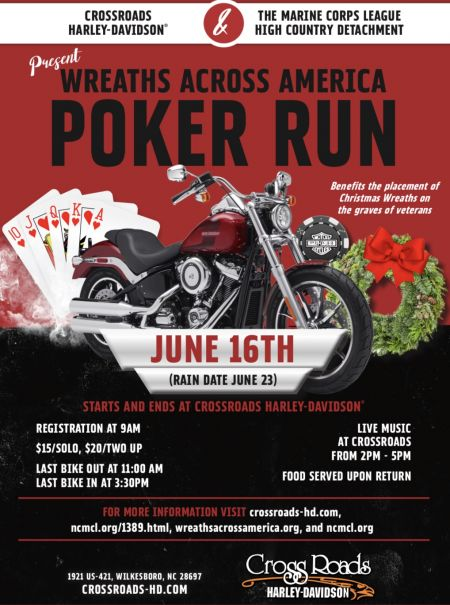 CrossRoads H-D and The Marine Corps League High Country Detacment Present Wreaths Across America Poker Run