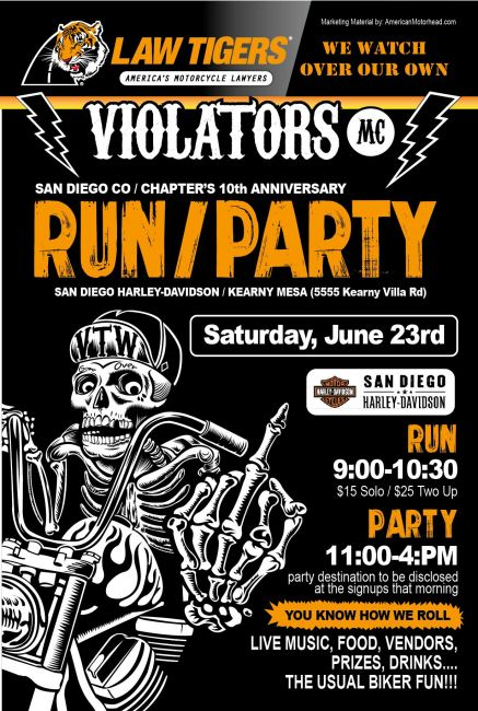Violators MC 10th Anniversary Run and Party