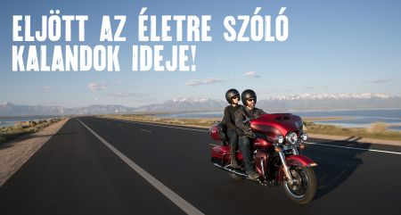 Harley-Davidson túramodellek most ½ millió Ft kedvezménnyel!