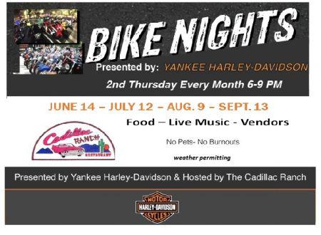 YANKEE H-D BIKE NIGHTS AT THE CADILLAC RANCH