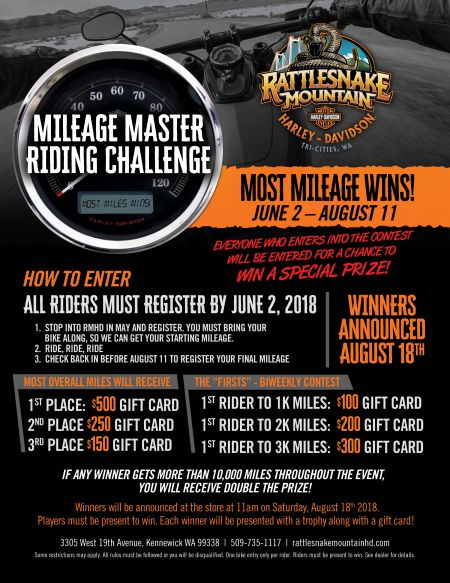 Mileage Master Riding Challenge