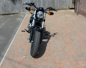 Preowned 2017 Harley-Davidson Sportster 1200 Forty Eight in Vivid Black