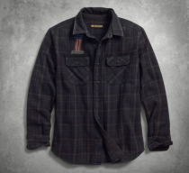 Men's Over-Dyed Plaid Slim Fit Shirt
