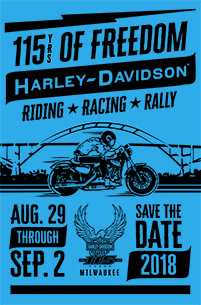 UPDATED : Harley-Davidson Announces 115th Anniversary Celebration Plans
