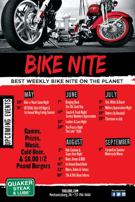 Bike Nights at Quaker Steak and Lube