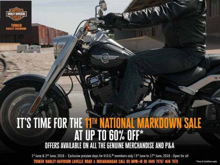 ANNUAL 115TH ANNIVERSARY MARKDOWN DISCOUNT SALE-TUSKER HARLEY-DAVIDSON