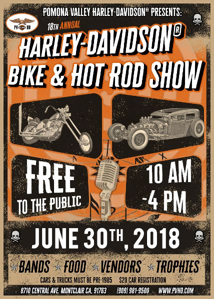 18th Annual PVHD Bike and Hot Rod Show