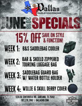 June Parts Specials