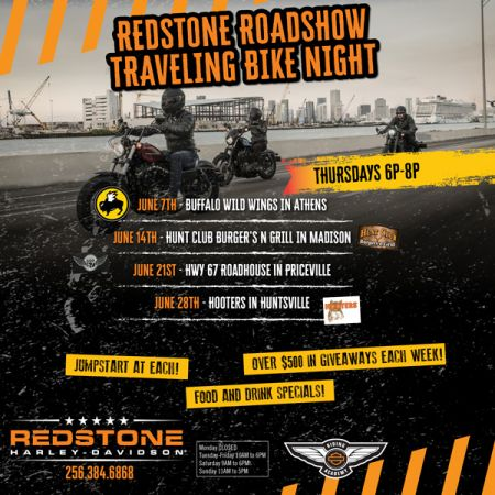Redstone Roadshow Traveling Bike Night - HUNT CLUB