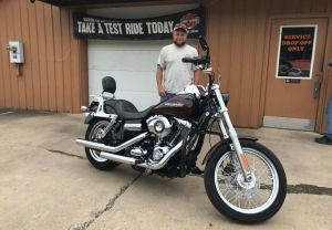 Greg and his Super Glide!