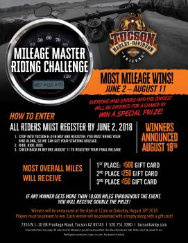Mileage Master Riding Challenge