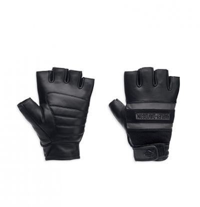 Men's Centerline Reflective Fingerless Leather Gloves