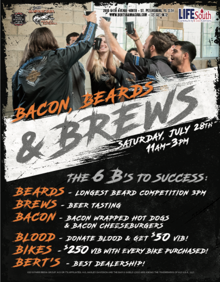 Bacon, Beards and Brews!