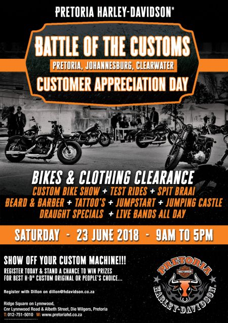 Battle of the Customs & Customer Appreciation Day - 23 June 2018