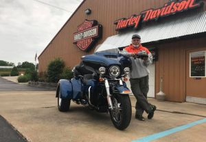 Sam and his new Tri-Glide Anniversary!