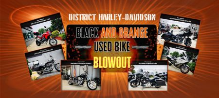 Black and Orange Used Bike Sale