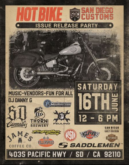Hot Bike Issue Release Party with San Diego Customs