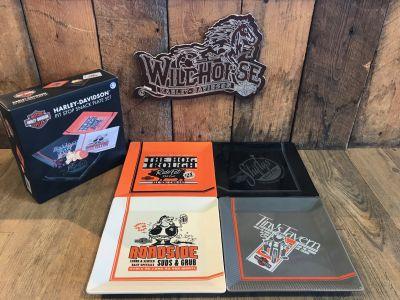 Harley-Davidson® Pit Stop Snack Plate Set