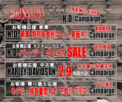 H-D福島 キャンペーン!