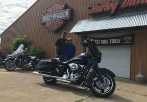 Andy and Jenn and their 2013 FLHX Street Glide!