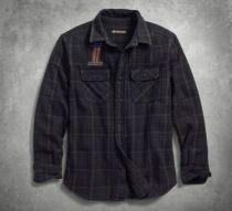 SHIRT-L/S,OVER DYED,PLAID