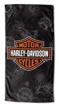 Harley-Davidson® Blueprint B&S ručnik za plažu