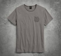 TEE-HD GEAR,GRY,B/L