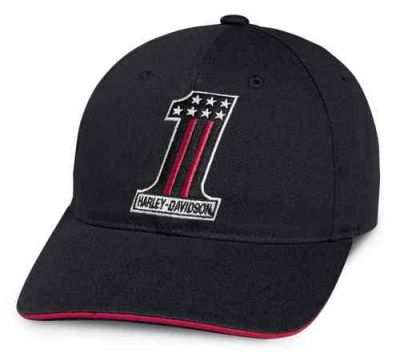 Harley-Davidson® Men's #1 Patch Adjustable Baseball kapa
