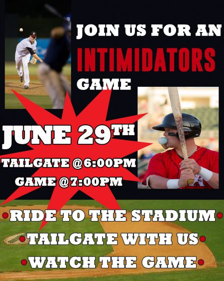 Tailgating with the Intimidators